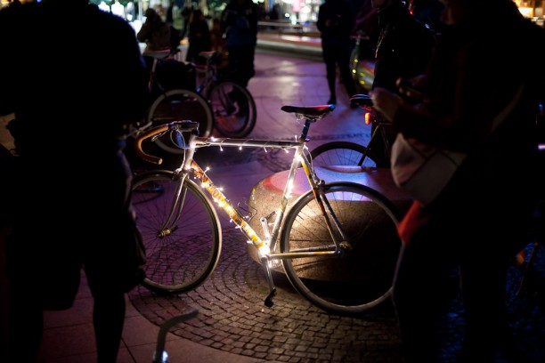Festival of lights Christmas bike
